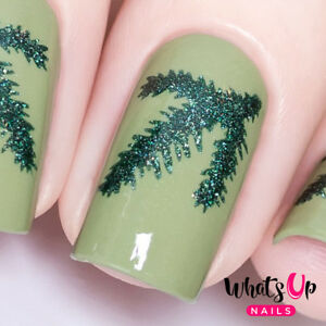 Details about Evergreen Stencils for Nails, Christmas Nails, Nail Vinyls,  Nail Art
