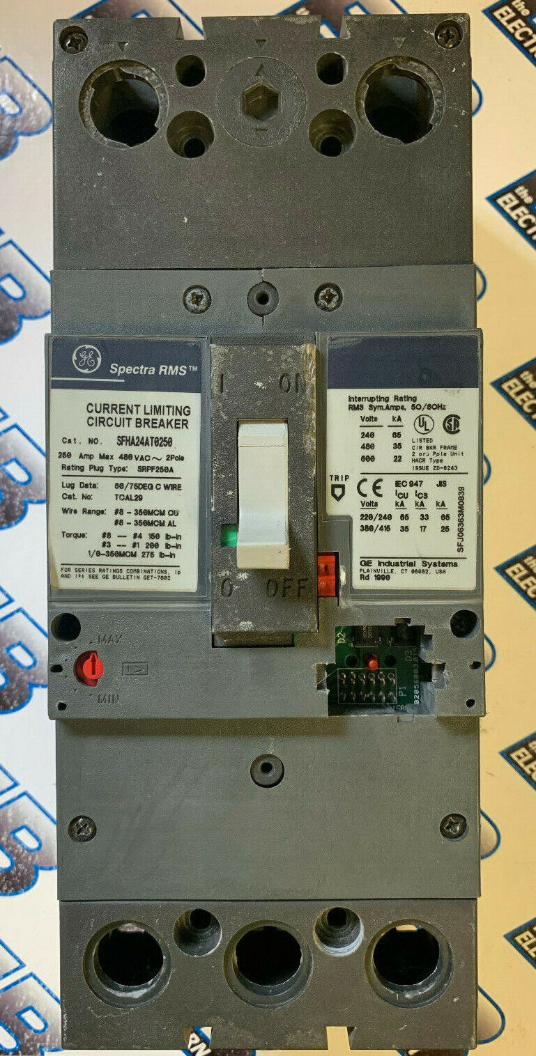 GE General Electric Spectra RMS SFHA24AT0250 250 Amp 480 V Circuit Breaker
