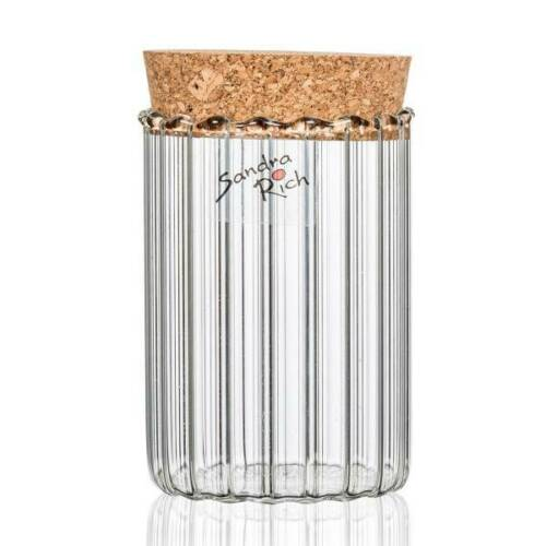 6er Set Gläser mit Korkdeckel STORAGE für 200ml H 9cm D 6,3cm Glas Sandra Rich