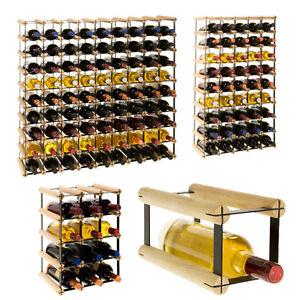 holz und metall weinregal flaschenregal flaschenst nder 1 bis 81 flaschen rw 8 ebay. Black Bedroom Furniture Sets. Home Design Ideas
