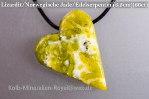 Lizardit-Norw-Jade-Edelserpentin-Herz-35mm-66ct-GUNSTIGER-mit-PREISVORSCHLAG