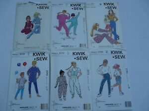 Kwik-Sew-Girls-top-jackets-pants-sweatshirt-size-8-thru-14-Sewing-Pattern-U-Pick