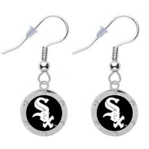 Final Touch Gifts Chicago White Sox Baseball Cap Earrings Pierced