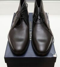 NEW Ralph Lauren Gilmer Black Italy Leather Boots Dress Shoes 7.5