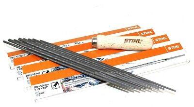 Genuine Stihl ® 9 Pezzi Kit Per Affilatura Catena Motosega Visto File Temperamatite Maniglia- In Corto Rifornimento