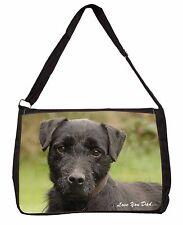 Fell Terrier 'Love You Dad'  Large Black Laptop Shoulder Bag Christmas, DAD-29SB