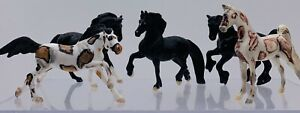 Old Breyer Reeves Horse Lot of 5 Figures Brown White Black Mini Pony's VTG