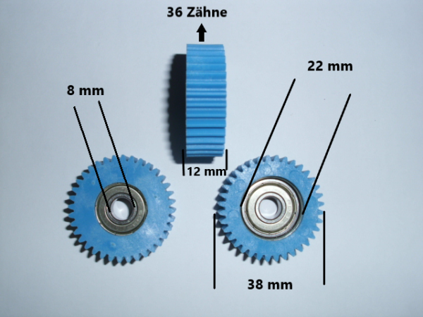 Attivo Bafang Ingranaggi Di Ricambio 250w-motori-nylon, 36 Denti + Seegerringe 8mm-r 250w-motoren - Nylon, 36 Zähne + Seegerringe 8mm