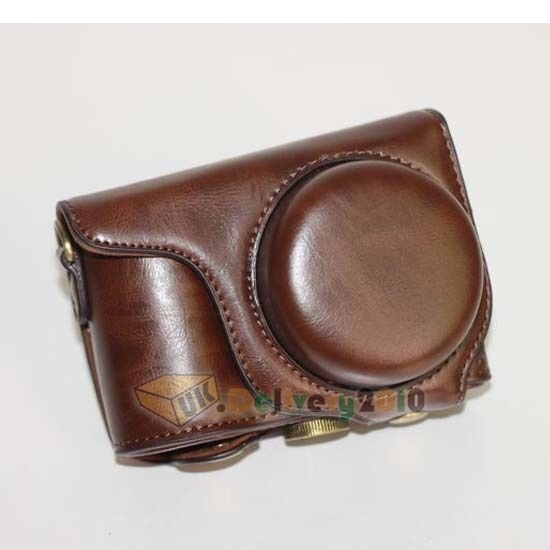 New Camera Ever Ready Case Bag For Samsung WB800F WB 800F + Strap Dark Brown UK