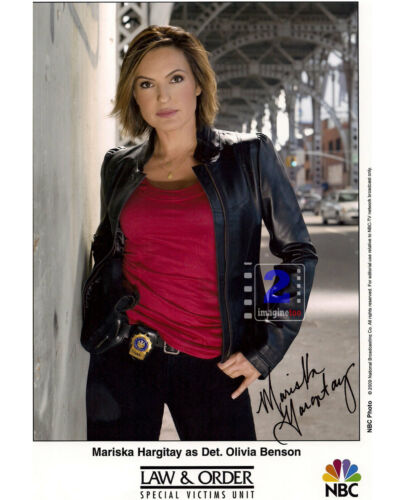 """Mariska Hargitay 8""""x 10"""" Signed Color Promo PHOTO REPRINT"""