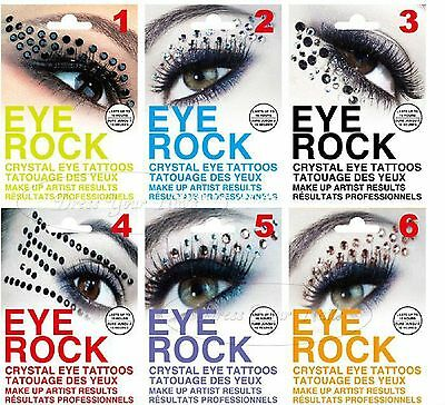 5 x Adult eye rock Fashionable Fun Temporary Eye Tattoos Fancy Dress UK Seller