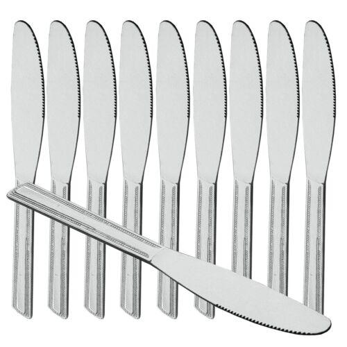 12 Pièces Couteau De Table Inox Inoxydable Vagues Taille menümesser petit pain couteau