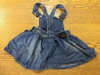 2-3 Years* Vgc We Take Customers As Our Gods Dresses United Girls Denim Pinafore Dress
