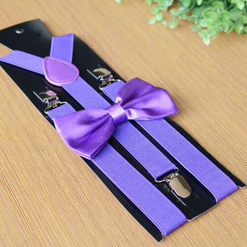 Herren Passende Hosenträger Braces/&bow Krawatte Kombo Lila Kostüm Black Friday