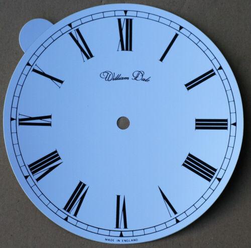 William Tal Selbstklebend 7.1cm 188mm PVC Weiß Römisch Uhr Ziffernblatt