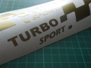 TURBO sport  LARGE car vinyl sticker decal. x2 7 YEAR VINYL