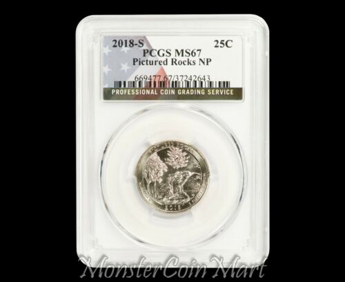 2018-S Pictured Rocks National Park Quarter PCGS MS67