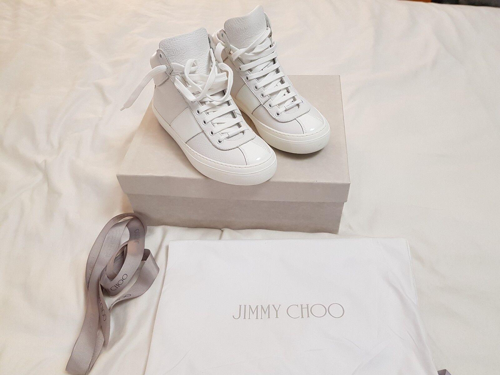 Jimmy Choo botas para hombre blancoo belgravi-totalmente Nuevo