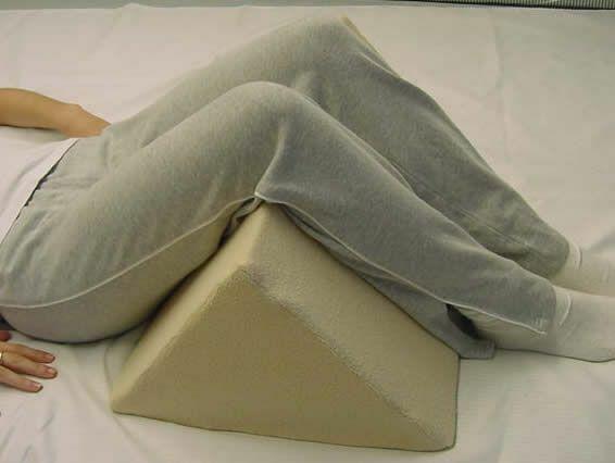 "1 Triangle Leg Wedge Poly Foam Size 24""long X 16"" Wide X 10""high"
