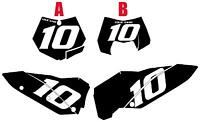 2008-2009-2010 Ktm 450exc Pre-printed Black Backgrounds White Numbers
