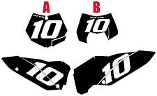 2009-2010 KTM 150SX Custom Pre-Printed Black Backgrounds White Numbers