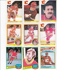 Lot-of-19-Calgary-Flames-1980-039-s-O-Pee-Chee-Hockey-Cards