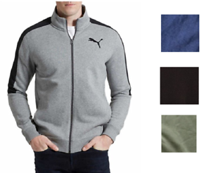 f6ac205cf6 Details about PUMA Men's French Terry Fleece Track Jacket