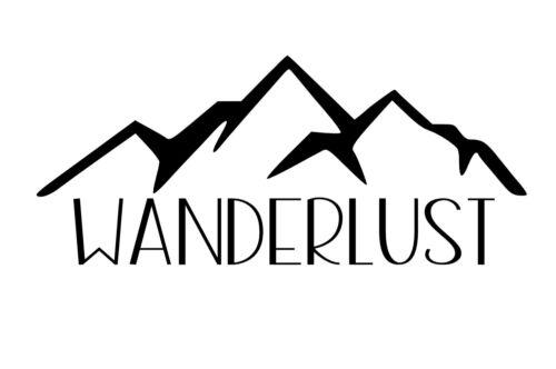 Wanderlust Car StickerInspiring Travel Mountains Decal Explore Laptop Window