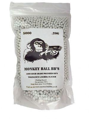 Monkey Ball BB Premium Heavy Weight Airsoft Ammunition White 0.4g 0.43g 0.45g