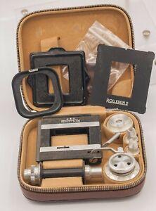 Complete-Rollei-Rolleiflex-Cord-3-5-2-8-Rolleikin-TLR-Camera-35mm-Film-Adapter