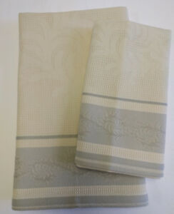Details About Yves Delorme Waffle Weave Bath Towel 52 X 24 Beige