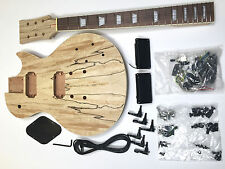 NEW DIY Electric Guitar Kit – LP Spalted Maple Bolt On Neck
