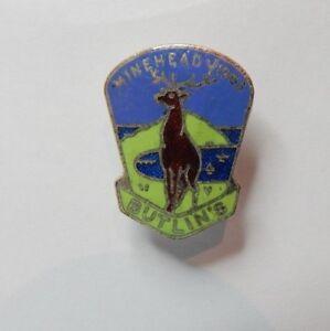 Vintage-Butlins-Minehead-1963-Badge-Gaunt-london-Genuine-souvenir