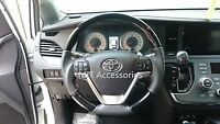 Toyota Camry 2012-on Se Steering Wheel Piano Black Wood Genuine Leather-sports