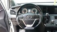Toyota Sienna 2015-on Steering Wheel Piano Black Wood Genuine Leather-sports