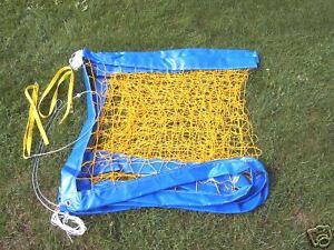 Beach-Volleyball-Training-Netz-8-5-x-1-0-m-mit-Stahlseil-gelb-Spielfeld-8-x-16