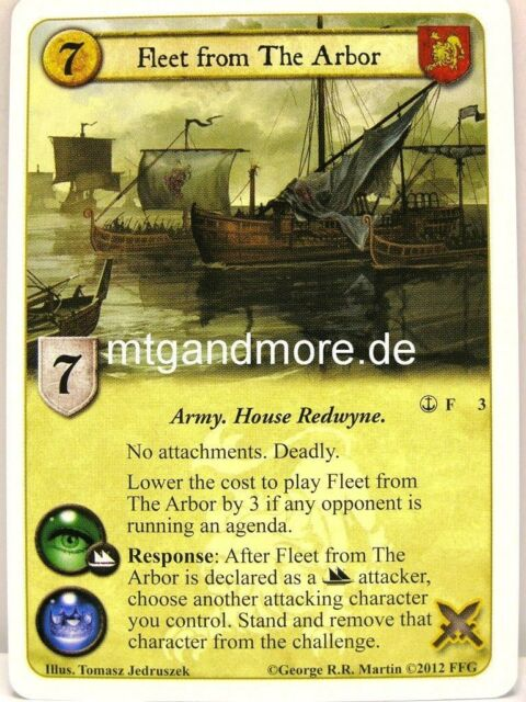 A Game of Thrones LCG - 1x Fleet from The Arbor  #003 - Reach of the Kraken
