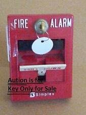 1 ONE  NEW SIMPLEX B Style KEY FOR FIRE ALARM PANEL AND PULL STATIONS KEY ONLY