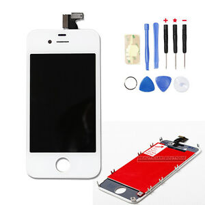 Replacement-For-Apple-iPhone-4-Complete-LCD-Touch-Screen-Digitizer-in-White-UK