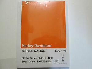 1973-1974-1975-Harley-Davidson-Electra-Super-Planear-Servicio-Reparar-Manual-Set