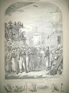 GUERRE-D-039-ITALIE-ARRIVeE-DES-TROUPES-A-MARSEILLE-ET-a-PARIS-GRAVURES-1859