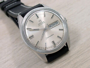 Omega-Seamaster-Automatic-Day-Date-Men-039-s-Wristwatch