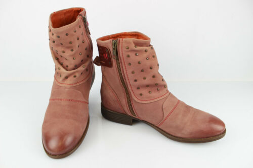 Kickers Boots Booties Leather Old Pink T 37 Very G