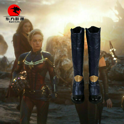 Dfym Avengers Endgame Captain Marvel Cosplay Boots Women Costume Shoes Halloween Ebay Avengers captain america civil war steve roger cosplay costume boots boot uk. ebay