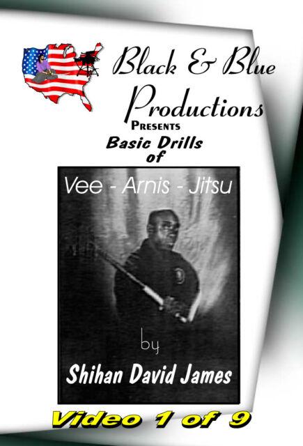 David James Vee-Arnis-Jitsu DVD #1 V-step pattern stepping,15 Basic Kuntao Kicks