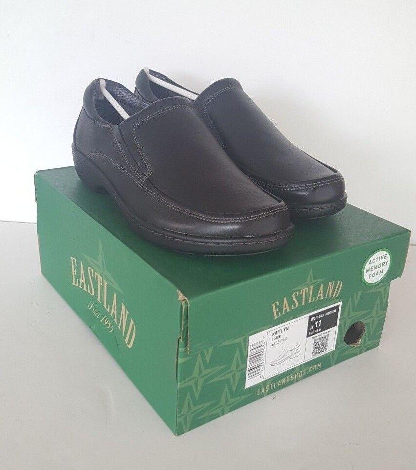 Memoria foam Kaitlyn nero Leather Slip on scarpe, Dimensione 11   autentico