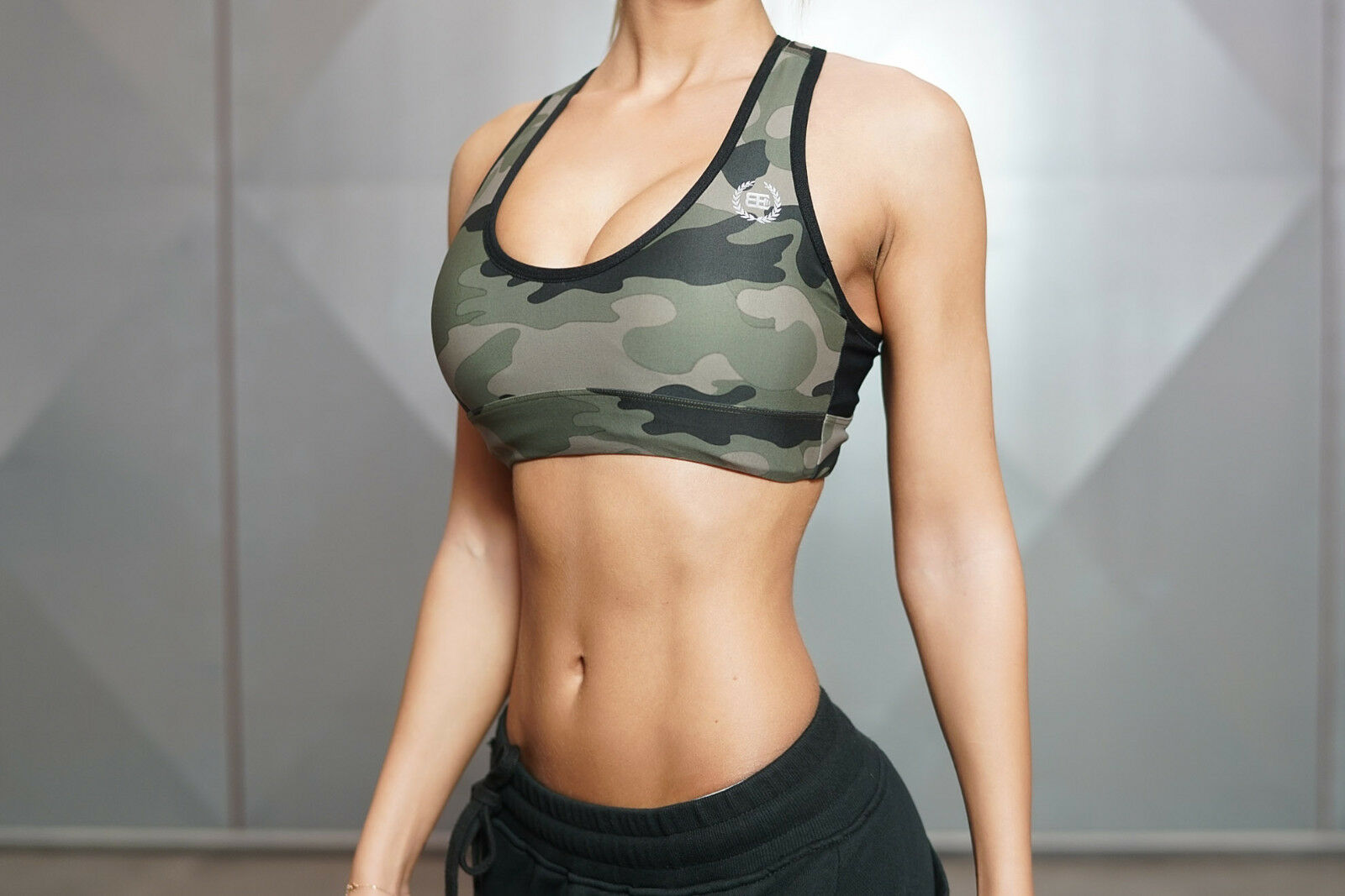 Body Engineers LOTUS CAMO – Sports Bra , Fitness Top , Mini Top