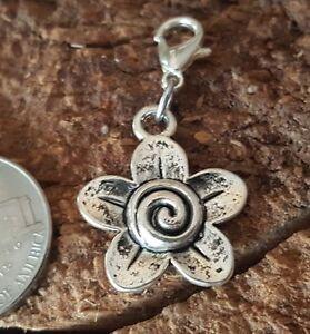 Celtic Silver Trinity Knot Clip Charm Pendant for bracelet chain Locket