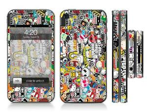 STICKER-BOMB-8-Full-Sticker-Skin-Wrap-Cover-Sticker-Kit-case-For-Iphone-4-4s