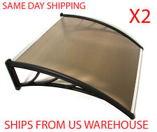 NEW* PC AWNING FOR WINDOWS & DOORS 96x36 POLYCARBONATE (BROWN HOLLOW SHEET)